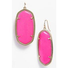 Kendra Scott 'Danielle - Large' Oval Statement Earrings ($60) ❤ liked on Polyvore