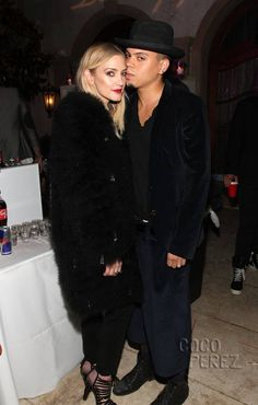 Ashlee Simpson and Evan Ross take their coordinated style to the next level at French Montana's birthday bash!