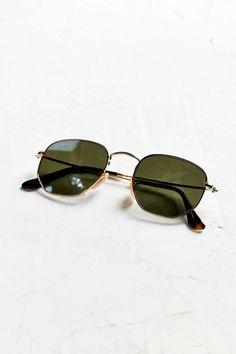 fcb2d73bd5 Ray-Ban Hexagonal Flat Lens Sunglasses