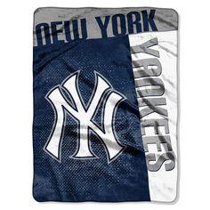 New York Yankees MLB Royal Plush Raschel Blanket Strike Series 60x80