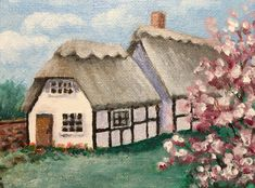 Excited to share the latest addition to my #etsy shop: English Cottage,paintings on canvas original,paintings on canvas,painting original art,english cottage decor,cotswolds,cotswolds Christmas #office #canvasboard #impressionist #horizontal #geographylocale #countryfarmhouse #blue #unframed #green Original Artwork, Original Paintings, Magnolia Trees, Cottage Chic, Cottage Style, Garden Gifts, Acrylic Painting Canvas, Kids Decor, Art Prints
