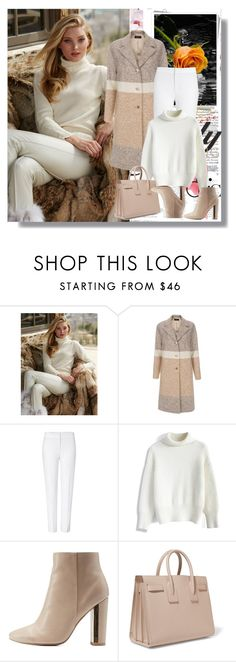 """""""Sweater in White"""" by rosely25 ❤ liked on Polyvore featuring Paul Smith, ESCADA, Chicwish, Qupid, Yves Saint Laurent, women's clothing, women's fashion, women, female and woman"""