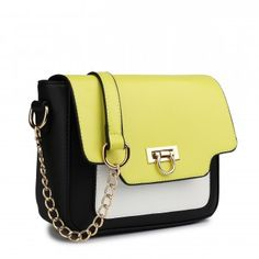 E1638 - Miss Lulu Leather Style Horseshoe Clasp Satchel Yellow Classic  Leather, Leather Fashion, aac194a8c6