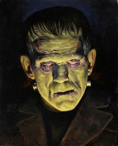 Universal Classic Monsters Art : Frankenstein 1931 by Erik M. Retro Horror, Horror Icons, Vintage Horror, Classic Monster Movies, Classic Horror Movies, Classic Monsters, Horror Monsters, Scary Monsters, Famous Monsters