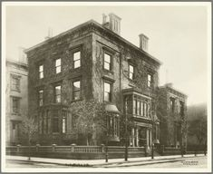 East 36th Street - Madison Avenue, NYC [J.P. Morgan House - Morgan Library] - photographed by Wurts Brothers