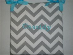 Shop for on Etsy, the place to express your creativity through the buying and selling of handmade and vintage goods. Chevron Pillow, Cushions, Pillows, Personalized Baby, Baby Gifts, Back To School, Teacher, Student, Chair