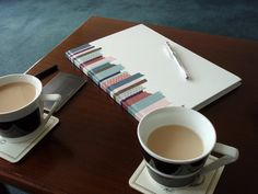 Joy even styled here notebook in with some lovely cups of tea! by MT Masking Tape, via Flickr
