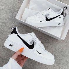 All Nike Shoes, Nike Shoes Air Force, Black Nike Shoes, Hype Shoes, Black Nikes, Running Shoes, Adidas Sneakers, Sports Shoes, Nike Air Force Black