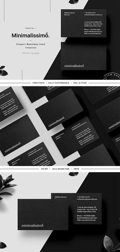 60 best business card templates images on pinterest in 2018 minimalissimo business card template by william hansen on creativemarket modern business cards business card cheaphphosting Image collections