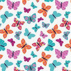 Wings N Things White Butterflies Studio E   Fort Worth Fabric Studio