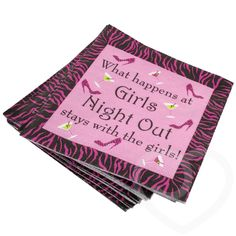 Tail Party Napkin 24 Pack By Hen Night Hq Tableware Gles
