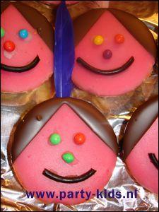 Roze koeken indiaantje