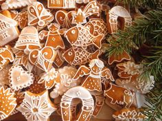 Gingerbread edible decorations - you can decorate Christmas tree with them and eat them during Christmas holidays