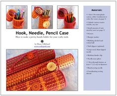 CRAFT Pattern: Hook, Needle, Pencil Case
