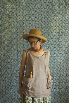 Linen Smock Shirt by xMOTHERx on Etsy, $89.00