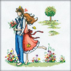 """Counted Cross Stitch Kit RTO - """"For a Walk"""""""