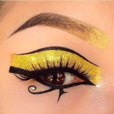 Makeup idea for Egyptian costume! I think the brow would be better filled in as a regular brow.