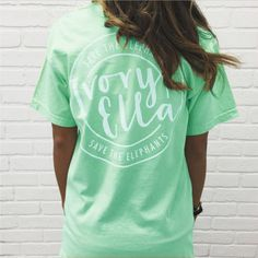 2017 Spring Summer Ivory Ella T-shirt Womens Clothing Tee Letter Print Animal Elephant Pocket short Sleeve T shirts