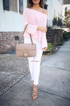 pink white and camel