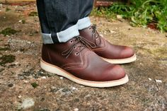 Red Wing Chukka boots.