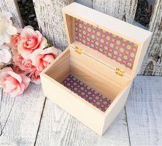 Ivory / White SHABBY CHIC Wood Recipe Box  by HuckleberryVntg, $29.00
