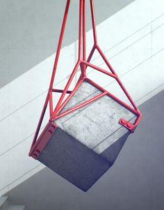 Precariously Perched Concrete Blocks By Fabrice Le Nezet