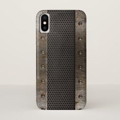 Grunge metal background iPhone x case - metal style gift ideas unique diy personalize