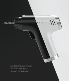 Hoyo is a prospective powertool that breaks up with the conventions.With Hoyo the drill is no longer a garage tool, but becomes a simple and elegant product made for everyone to use in a home context