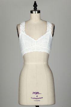 Lace Bralet-White