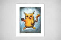 "Saatchi Online Artist: Eusebio Guerra; Acrylic, 2011, Painting ""Zombie Pikachu (ゾンビピカチュウ)""    http://www.saatchionline.com/art/Painting-Acrylic-Zombie-Pikachu/316139/190430/view"