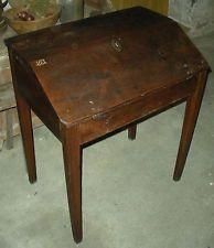 Antique 1700s Pennsylvania Slant Top Secretary Desk Drexel Museum Colection Vafo