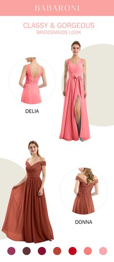 Sku: Delia/Donna Price: $109.00 Color: Watermelon/Rust Size: All Sizes Available These are stunning full-length dresses made of chiffon,which makes you look elegant. #babaroni #bigsale #2020wedding #weddinginspiration #wedding #wedding #weddings #weddings #weddingdress #weddingdresses #bridalgown #bridesmaid #bridesmaiddress #bridesmaidgown #bridesmaidgowns#bridesmaiddrsses #chiffondress #longdress #dreamdress #longgown Bridesmaid Dresses, Prom Dresses, Formal Dresses, Wedding Dresses, Brides Maid Gown, Bustier, Dream Dress, Chiffon Dress, Dress Collection