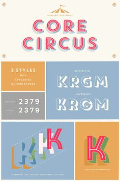 Core Circus typeface // I want this font!