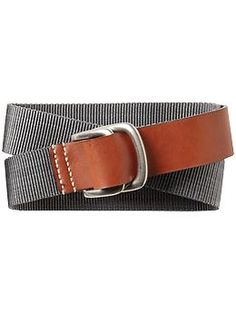 Leather and Nylon belt - totally borrowable