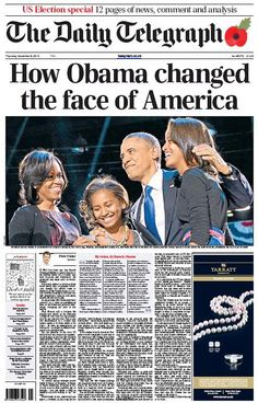 Media: Obama re-election: Newspaper front pages