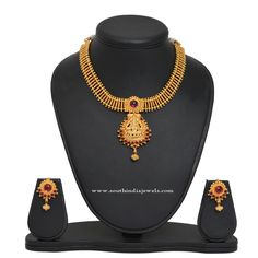 Gold Plated Lakshmi Attigai Necklace Designs, Gold Plated Lakshmi Attigai Models, Attigai Necklace Collections.
