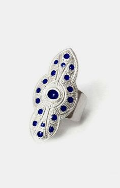 Anna Ring Silver and Sapphire