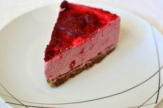 Paleo Lemon & Raspberry Cheesecake