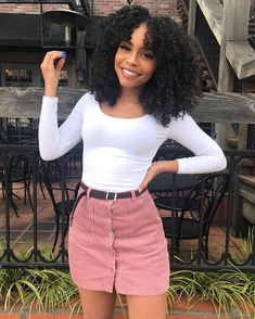 Regular price GBP Sale Afro Kinky Curly Lace Front Wig Real Human Hair For Black Women Source by women clothes Black Girl Fashion, Look Fashion, Teen Fashion, Fashion Outfits, Womens Fashion, Fashion Clothes, Spring Fashion, Fashion Trends, Black Girl Swag