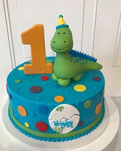 Dinosaur Birthday Cake in Bright Colors by 3 Sweet Girls Cakery! Dinosaur Birthday Cake in Bright Colors by 3 Sweet Girls Cakery! Dinosaur First Birthday, Boys First Birthday Cake, Baby Birthday Cakes, Birthday Ideas, Birthday Cakes For Children, Cakes For Baby Boy, Bright Birthday Cakes, Dinosaur Party, Dinosaur Cakes For Boys