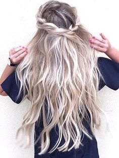inspiration - fairy tale crown braid and long hair
