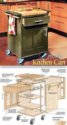 Kitchen Cart Plans - Furniture Plans and Projects | WoodArchivist.com