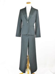 Ann Taylor Stretch Wool Pinstripe Pant Suit 6 / 6P