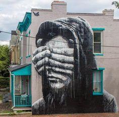 Street Art by Nils Westergard in Richmond, Virginia USA #art #graffiti #streetart