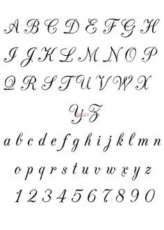 Tattoo fonts calligraphy alphabet hand lettering 44 New ideas Tattoo Lettering Design, Stencil Lettering, Creative Lettering, Lettering Styles, Tattoo Designs, Lettering Ideas, Font Art, Alphabet Script, Hand Lettering Alphabet