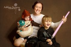 May the force be with you: a Star Wars-themed family session featuring Darth Vader and Leia breastfeeding an Ewok | Offbeat Mama