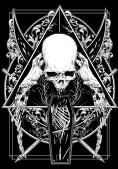 BLACK AND WHITE by Rafal Wechterowicz, via Behance #illustration #black #white #skulls