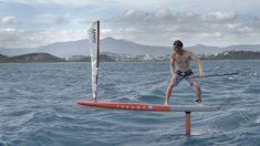 Cyril Coste sur un stand up paddle foil avec une voile ! - Foil Magazine