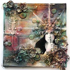 Secret - 12x12 Collage on Canvas | by finnabair