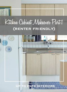 Use Contact Paper To Refinish Cabinets Temporarily While Renting